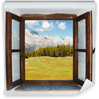 Vinylová Fototapeta Otevřené okno