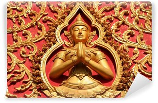 Fototapeta Winylowa Ozdoba dachu, Wat Si Saket, Vientiane, Laos