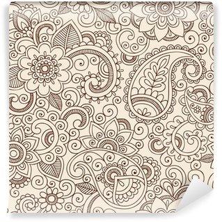 Vinylová Fototapeta Ozdobený Henna Paisley vzor Doodle Vector design
