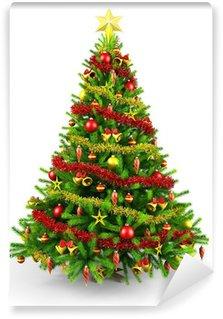 Vinylová Fototapeta Ozdobený vánoční strom