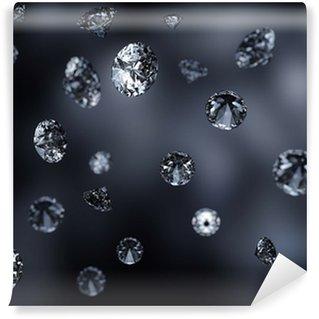 Vinylová Fototapeta Padající diamanty pozadí