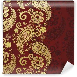 Vinylová Fototapeta Paisley květinovým vzorem, textil, Rajasthan, Indie královský