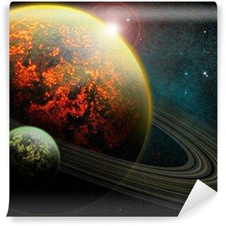 Vinylová Fototapeta Pálení planety