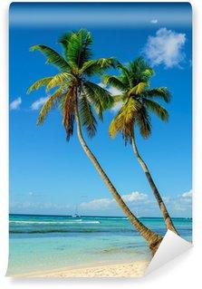 Vinylová Fototapeta Palmy vstupující do oceánu, Paradise Beach