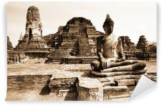 Vinylová Fototapeta Památky buddha, zříceniny Ayutthaya, staré hlavní město Thajska