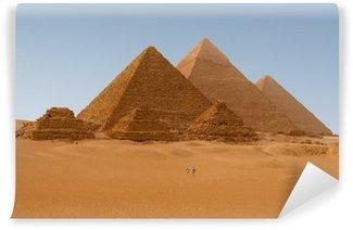 Vinylová Fototapeta Panaromic pohled ze šesti egyptských pyramid v Gíze, Egypt