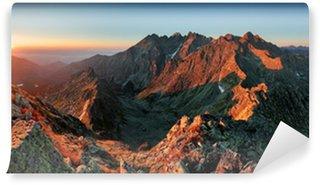 Vinylová Fototapeta Panorama horské podzimní krajina
