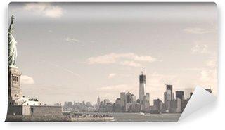 Vinylová Fototapeta Panorama Manhattanu, NYC - sépie obrázek