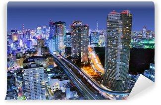 Vinylová Fototapeta Panoráma města Tokia