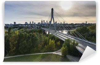 Vinylová Fototapeta Panorama ve Varšavě v Polsku