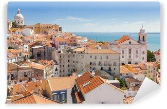 Vinylová Fototapeta Panoramatické Střechy Alfama, Lisabon, Portugalsko