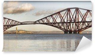 Vinylová Fototapeta Panoramatický pohled na Forth Rail Bridge, Edinburgh, Skotsko