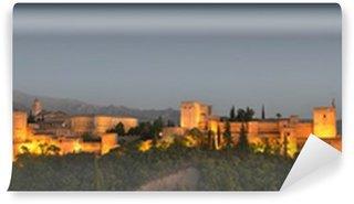 Vinylová Fototapeta Panoramatický výhled na Alhambra v soumraku