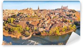 Vinylová Fototapeta Panoramatický výhled na město Toledo v Kastilii-La Mancha, Španělsko