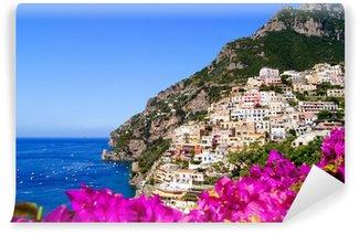 Vinylová Fototapeta Panoramatický výhled na Positano na pobřeží Amalfi v Itálii