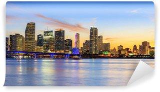 Vinylová Fototapeta Panoramatický západ slunce, Miami