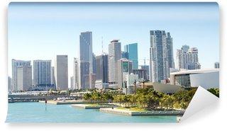 Fototapeta Winylowa Panoramiczny widok na panoramę miasta Miami, Floryda, USA.