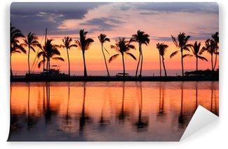Vinylová Fototapeta Paradise Beach Sunset tropické palmy