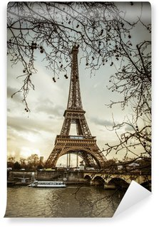 Fototapeta Winylowa Paris tour eiffel sunset