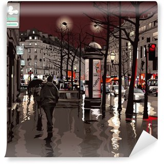 Vinylová Fototapeta Paris v noci