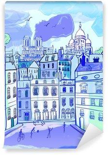 Fototapeta Winylowa Paris w stylu akwareli