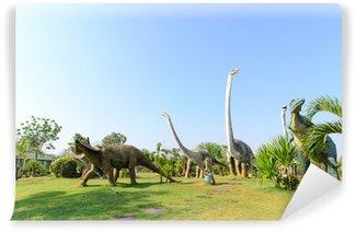 Fototapeta Winylowa Parki publiczne posągów i dinozaurów