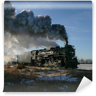 Vinylová Fototapeta Parní lokomotiva
