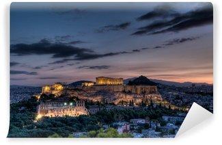 Vinylová Fototapeta Parthenon a Acropolis v Aténách při východu slunce