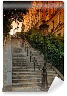 Fototapeta Winylowa Paryż; escalier de la Butte Montmartre