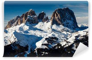 Vinylová Fototapeta Passo Sella Peak v lyžařském středisku Canazei, Dolomity Alpy, I