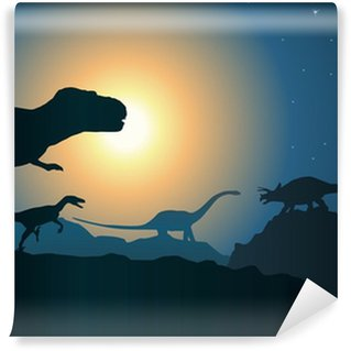 Vinylová Fototapeta Paysage_Dinosaure_2