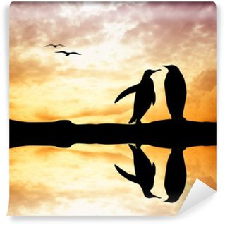 Vinylová Fototapeta Penguins v lásce