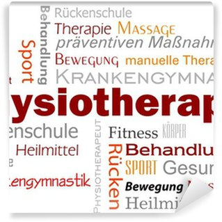 Vinylová Fototapeta Physiotherapie Wörter Text