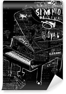 Vinylová Fototapeta Pianino
