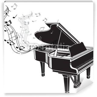 Vinylová Fototapeta PIANO EN MUSIQUE