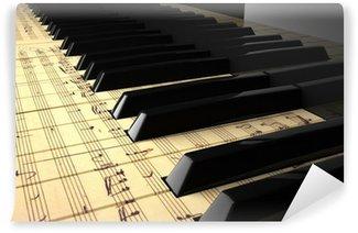 Vinylová Fototapeta Piano moderno