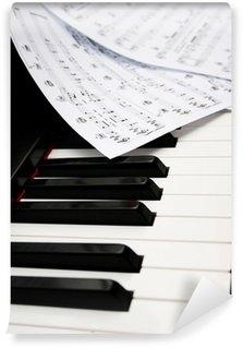 Vinylová Fototapeta Piano s hudebnin