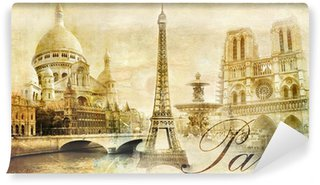Fototapeta Vinylowa Piękna Paris - archiwalne pocztówka