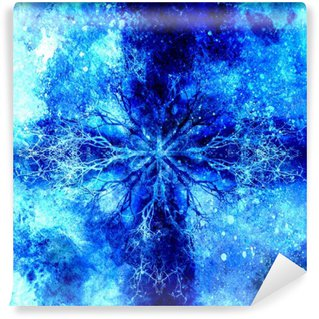 Fototapeta Vinylowa Piękne ozdobnych mandala z motywem drzewa, symbol życia.