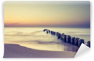 Vinylová Fototapeta Piękny kolorowy Wschód słońca nad Bałtykiem