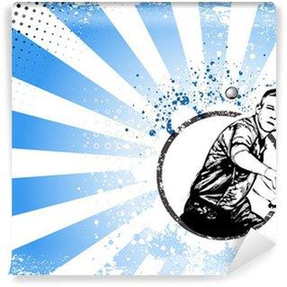 Vinylová Fototapeta Ping pong retro plakát pozadí