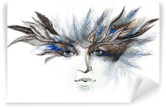 Fototapeta Winylowa Pióra wokół oczu (seria C)