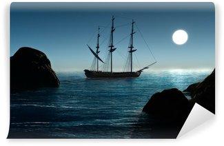 Vinylová Fototapeta Pirátské lodi