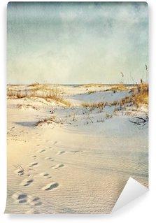 Vinylová Fototapeta Písečné duny při západu slunce texturou Obrázek