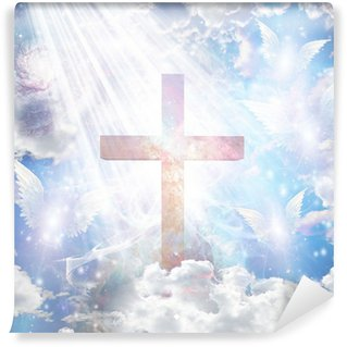Fototapeta Pixerstick Cross a andělské formy