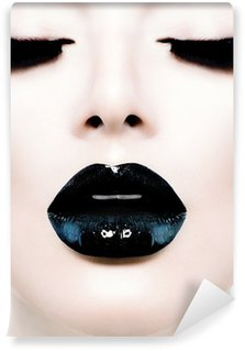 Fototapeta Pixerstick Fashion Beauty Model Girl with Black make-up a dlouhé Lushes