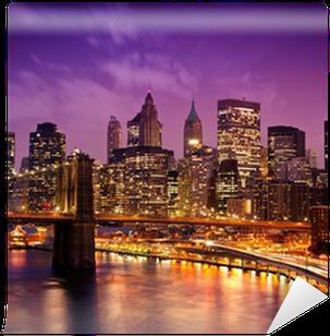 Fototapeta Pixerstick New York Manhattan Pont de Brooklyn
