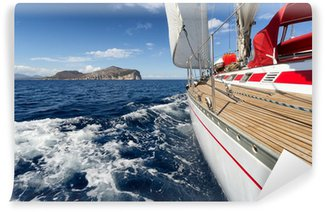 Vinylová Fototapeta Plachetnice na Sardinii pobřeží, Itálie