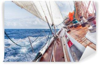 Vinylová Fototapeta Plachetnice navigaci na vlnách