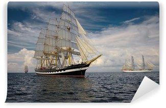 Vinylová Fototapeta Plachetnice. Sbírka lodě a jachty